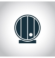 Barrel single flat icon vector image
