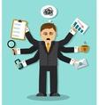 burnout at work vector image