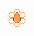 Honeycomb flat icon vector image
