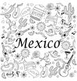 Mexico coloring book vector image