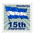 national day of Honduras vector image