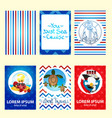 set of nautical and marine banners and flyers vector image
