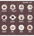 Set with different kinds of chocolate candies - vector image