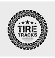 Tire tracks on grey background vector image