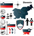 Slovenia map vector image