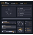 HUD elements for user interface vector image