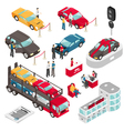 Auto Dealer Showroom Isometric vector image vector image