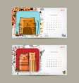 2017 baby calendar template insert your photo vector image