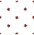 Ladybird bug flat style pattern Nature insect vector image