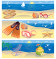 Beach vacation banners vector image vector image