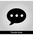 Message Icon on grey background vector image