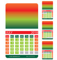 calendar grid july august june vector image