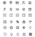 Casino Line Icons 1 vector image