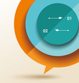 color speech bubble from folded paper vector image