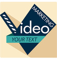 Video Marketing vector image