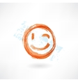 wink grunge icon vector image