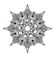 Zentangle stylized Round Indian Mandala Hand drawn vector image
