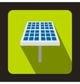 Solar battery icon flat style vector image