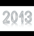 Metallic 2013 design vector image