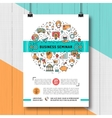 Business seminar poster templates A4 size line vector image
