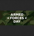 armed forces day vector image