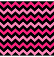 Cute Chevron seamless pattern - black and pink vector image vector image