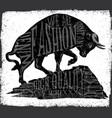 tee graphic fashion animal design vector image
