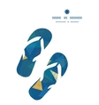 abstract fabric triangles flip flops silhouettes vector image
