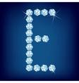 vector diamond alphabet letter e vector image vector image
