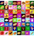 Great set of various food 64 objects vector image