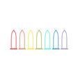 Condom rainbow line icon set Protection White vector image