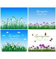 Springtime Meadow Set vector image