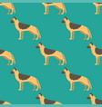 funny cartoon shepherd dog character bread vector image