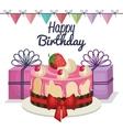 happy birthday celebration card vector image