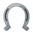 horseshoe luck metal wild west icon vector image