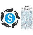 Money Care Hands Icon with 1000 Medical Business vector image