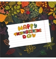 Thanksgiving dayAutumn leaves background vector image