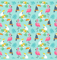 tropical seamless pattern with exotic birds vector image