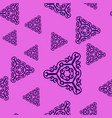 violet prints with ornate triangles on pink vector image