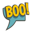 boo speech bubble icon isolated vector image