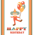 CLOWN BIRTHDAY CARD vector image