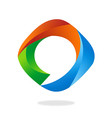 3D abstract circle round bubble talk logo vector image