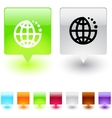 planet square button vector image vector image