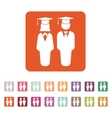 The student boy and girl icon School academy vector image