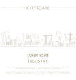 Cityscape graphic template Industry city buildings vector image