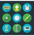 flat design clock icons set vector image