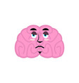 brain sad emotion human brains emoji sorrowful vector image