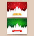 christmas designs with falling snow vector image