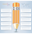 Creative pencil for infographic template vector image
