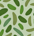 Cucumber seamless pattern background green vector image